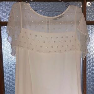 Beautiful White Zara dress w button details